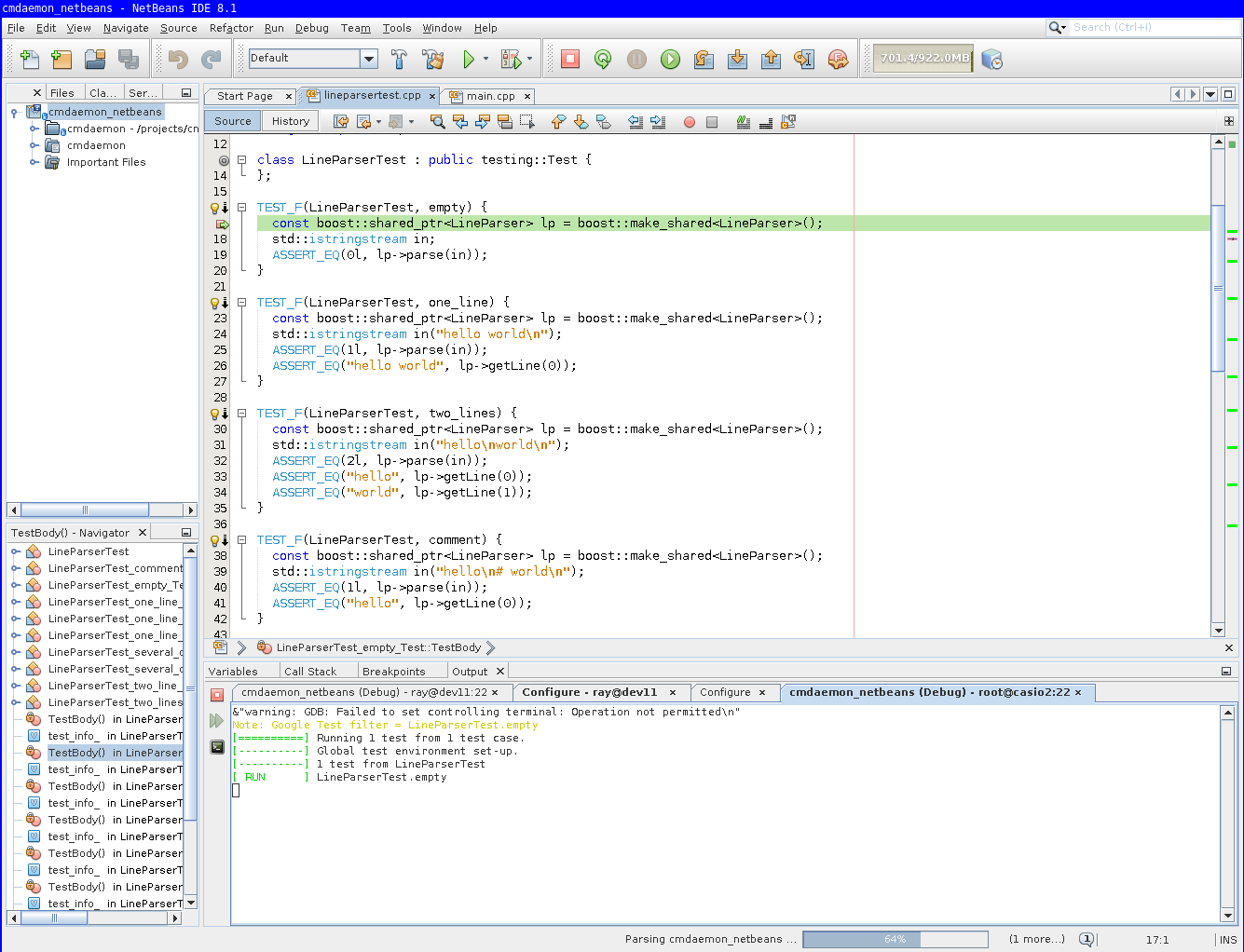 Remote debugging with NetBeans 8 1 for C/C++
